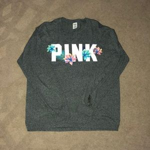 PINK by Victoria's Secret gray long sleeve tshirt